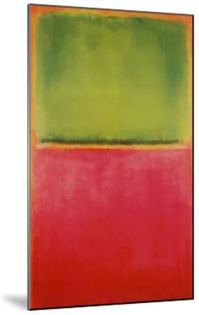 Green, Red, on Orange-Mark Rothko-Mounted Art Print