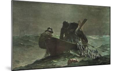 The Herring Net, 1885-Winslow Homer-Mounted Art Print