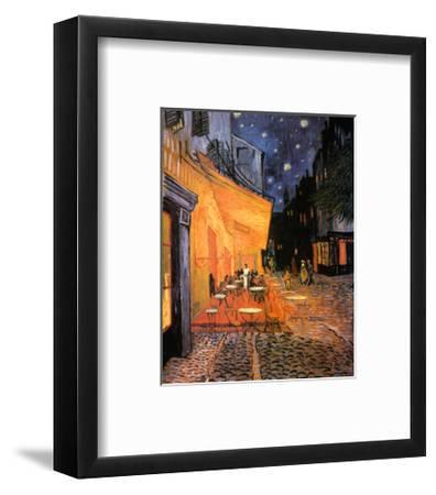 The Café Terrace on the Place du Forum, Arles, at Night, c.1888-Vincent van Gogh-Framed Art Print
