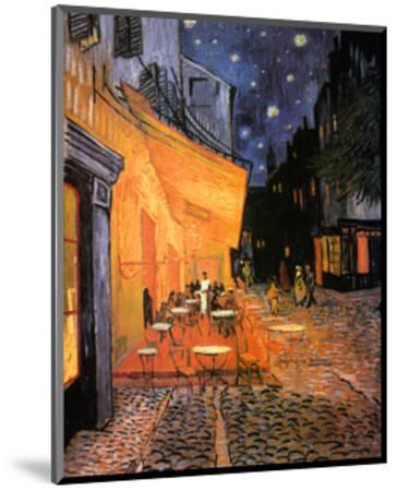 The Café Terrace on the Place du Forum, Arles, at Night, c.1888-Vincent van Gogh-Mounted Art Print