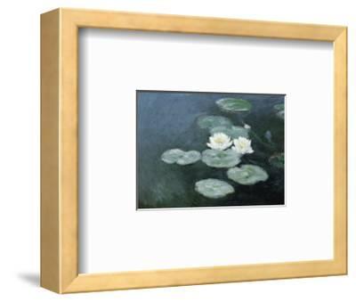 Nympheas Effet du Soir-Claude Monet-Framed Art Print