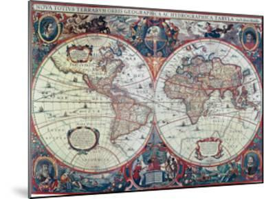 New Earth and Water Map of the Entire World--Mounted Art Print