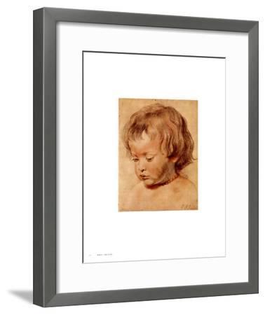 Head of a Boy-Peter Paul Rubens-Framed Art Print