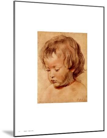 Head of a Boy-Peter Paul Rubens-Mounted Art Print