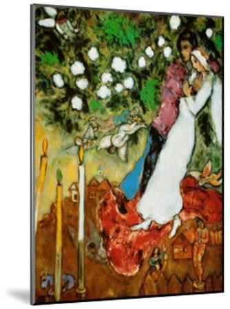 Three Candles-Marc Chagall-Mounted Art Print