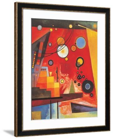 Heavy Red-Wassily Kandinsky-Framed Art Print