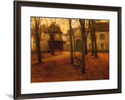 Village en Automne-Henri Eugene Augustin Le Sidaner-Framed Art Print