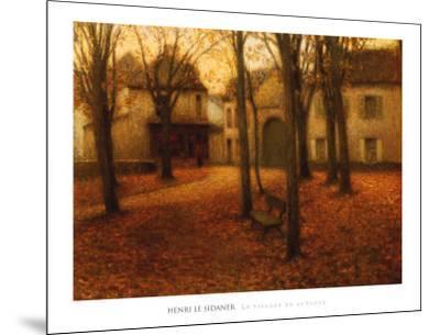 Village en Automne-Henri Eugene Augustin Le Sidaner-Mounted Art Print
