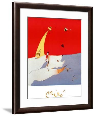 Paysage, c.1925-Joan Mir?-Framed Art Print