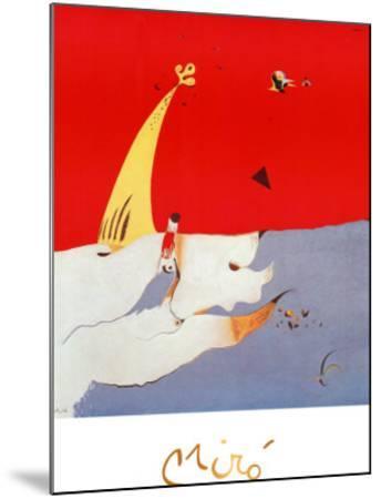 Paysage, c.1925-Joan Mir?-Mounted Art Print