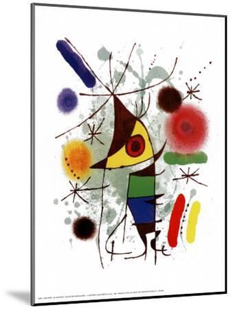 Le Chanteur-Joan Mir?-Mounted Art Print