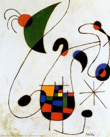 The Melancholic Singer-Joan Mir?-Art Print