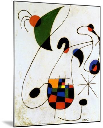 The Melancholic Singer-Joan Mir?-Mounted Art Print