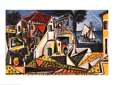 Mediterranean Landscape-Pablo Picasso-Art Print