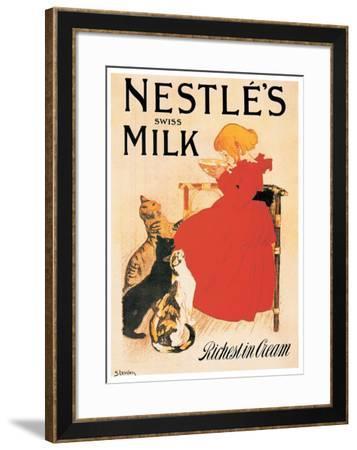 Nestle's Milk-Th?ophile Alexandre Steinlen-Framed Art Print