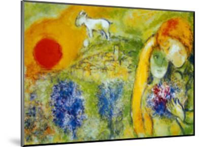 Amoureux de Vence-Marc Chagall-Mounted Art Print