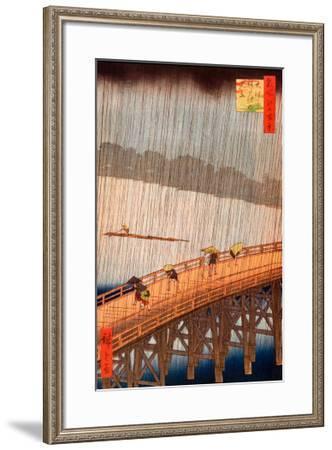 Sudden Shower-Ando Hiroshige-Framed Art Print
