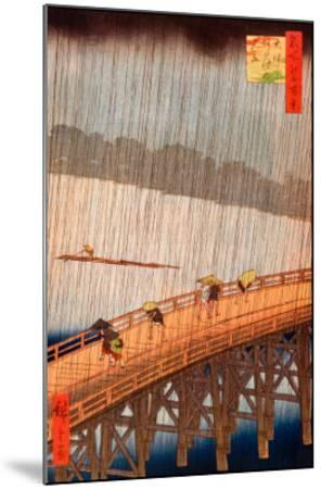 Sudden Shower-Ando Hiroshige-Mounted Art Print