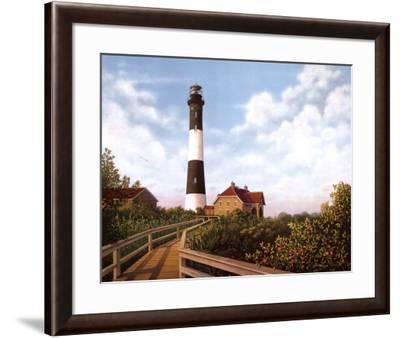 West Channel Lighthouse-Daniel Pollera-Framed Art Print