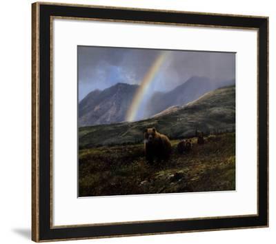 Over the Pass-Michael Coleman-Framed Art Print