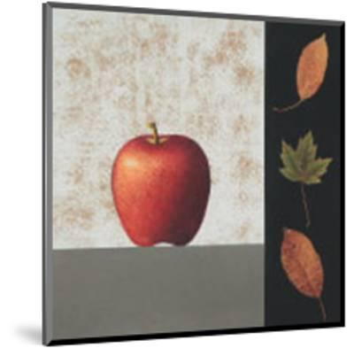 Red Apple and Leaves-John Boyd-Mounted Art Print