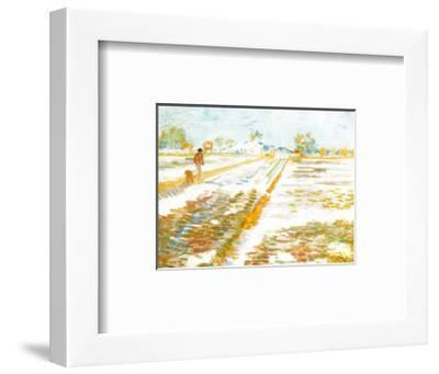 Paysage Enneige-Vincent van Gogh-Framed Art Print