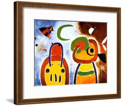 L'Oiseau au Plumage Deploye-Joan Mir?-Framed Art Print