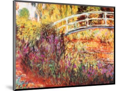 The Japanese Bridge-Claude Monet-Mounted Art Print