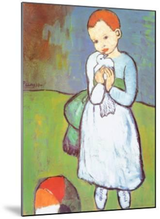 Child with a Dove, c.1901-Pablo Picasso-Mounted Art Print