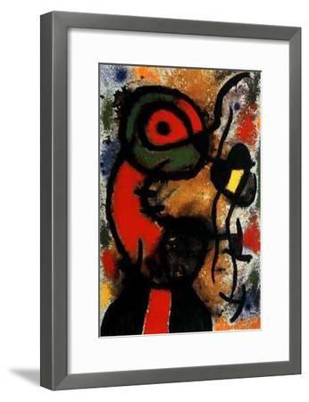 Personnage et Oiseau, c.1948-Joan Mir?-Framed Art Print