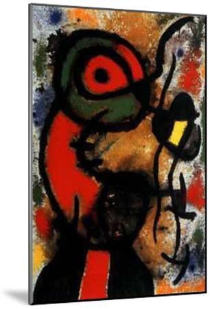 Personnage et Oiseau, c.1948-Joan Mir?-Mounted Art Print