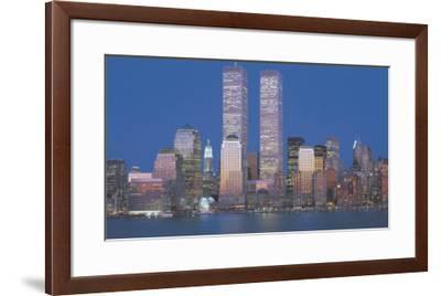 World Trade Center 1973-2001-Richard Berenholtz-Framed Art Print
