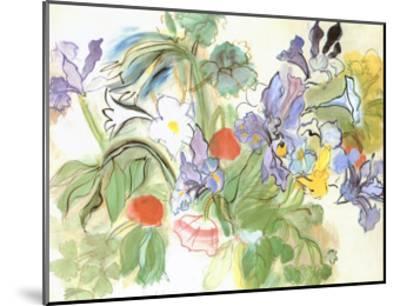 Poppies and Iris-Raoul Dufy-Mounted Art Print