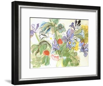 Poppies and Iris-Raoul Dufy-Framed Art Print