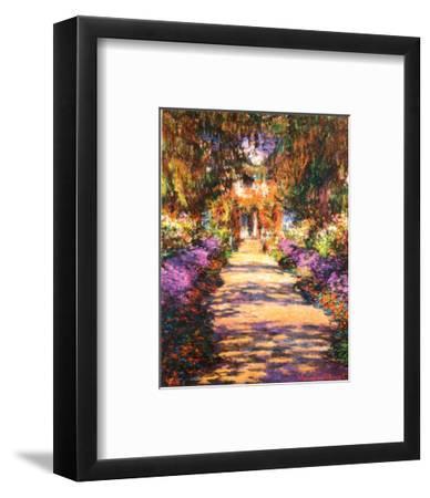 Il Viale del Gardino-Claude Monet-Framed Art Print