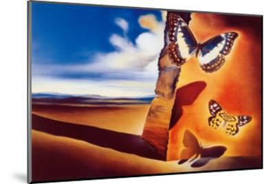 Landscape with Butterflies-Salvador Dal?-Mounted Art Print