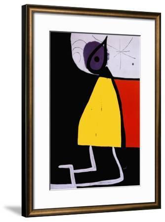 Woman in the Night-Joan Mir?-Framed Art Print