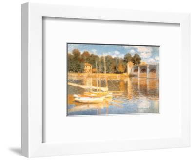 The Bridge at Argenteuil-Claude Monet-Framed Art Print