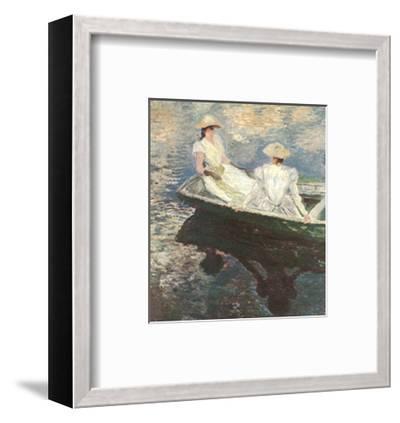 Girls on a Boat-Claude Monet-Framed Art Print