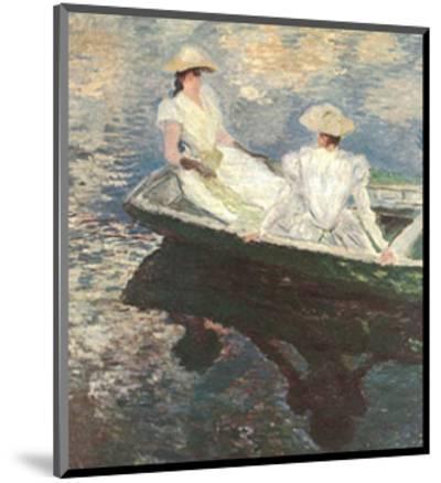 Girls on a Boat-Claude Monet-Mounted Art Print