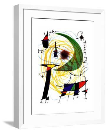 Lune Verte-Joan Mir?-Framed Art Print