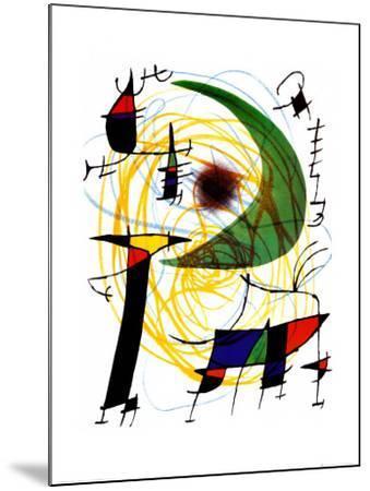 Lune Verte-Joan Mir?-Mounted Art Print