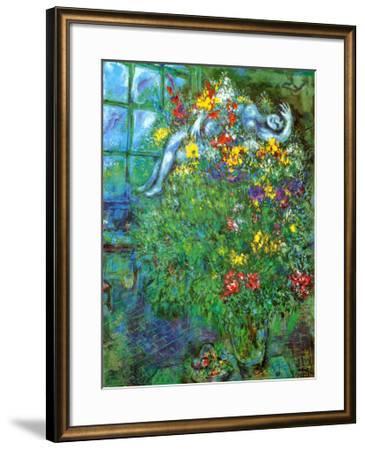 Le Bouquet Ardent-Marc Chagall-Framed Art Print