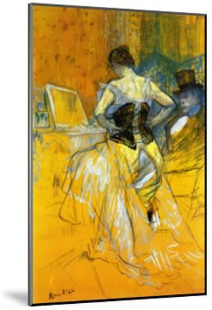 Femme Mettant Son Corset-Henri de Toulouse-Lautrec-Mounted Art Print