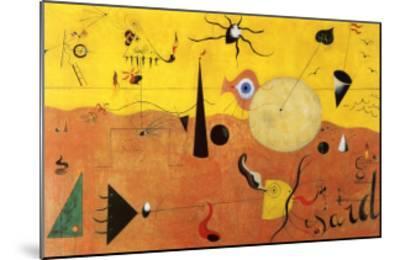 Katalanische Landschaft-Joan Mir?-Mounted Art Print