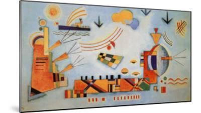 Milder Vorgang, 1928-Wassily Kandinsky-Mounted Art Print