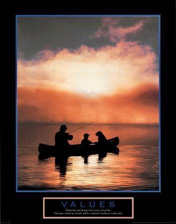 Values: Fishing--Art Print