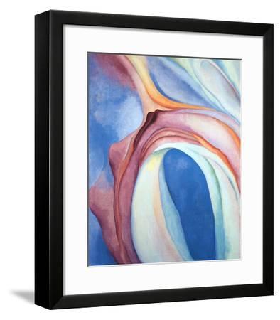 Music Pink and Blue-Georgia O'Keeffe-Framed Art Print