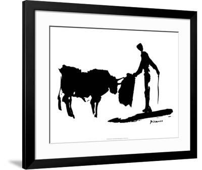 Bullfight II-Pablo Picasso-Framed Art Print
