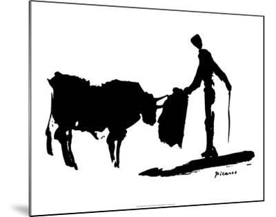 Bullfight II-Pablo Picasso-Mounted Art Print